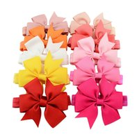 Wholesale headband accessories western online - Everweekend Color CM Baby Girls Candy Color Bow Headbands Cute Children Fish Tail Hairpins Western Hair Accessories