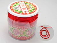 Wholesale Red Thread Necklace - 100 Meters Red Chinese Knot Cord Necklace Knot RATTAIL Thread Synthetic Silk 1mm