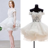 Wholesale Sequin Fold - short Quinceanera Dresses custom made Ball Gown Organza Bateau Fold Applique Sequins High Quality girls special occasion dresses 5470