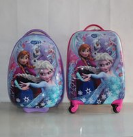 "Wholesale Kids Cartoon Trolley Bags - Cartoon Kids Rolling Luggage Children Trolley School Bags 18"" 16'' Suitcase Travel Bag"