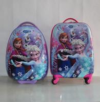 "Wholesale Suitcase School Bags - Cartoon Kids Rolling Luggage Children Trolley School Bags 18"" 16'' Suitcase Travel Bag"