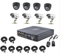 Wholesale Dvr 6mm - Free DHL New 8CH DVR 8X1200TVL CCTV Home Security 24 IR 3.6MM Indoor 6MM Outdoor Night Camera With IR-CUT Home Alarm System Iphone Control