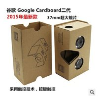 Wholesale v2 smartphone for sale - Group buy 2016 Google Cardboard V2 D Viewing Glasses VR Valencia Quality Max Fit Inch for Smartphone IOS Android iphone S plus S6 edge DHL