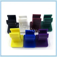 Wholesale Electronic Cigarette Car - Silicone e cig colorful display frame electronic cigarette shelf exhibit clear stand show shelf holder rack for ego evod battery car ecig