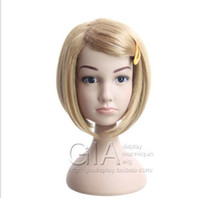 Wholesale Child Mannequin Display - New Arrival Mannequin Head Famous Brand GIA Mannequin High Quality Lovely Child Mannequin Head For Wig Sunglass Display