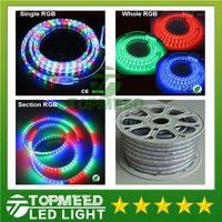Wholesale Ir Remote Control Lighting - RGB Led Strip light 10M 15M 20M 25M 30M 35M 40M 45M 50M 110V 220V SMD 5050 Lighting Waterproof+IR Remote Control+ Power Supply