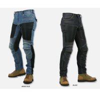 Wholesale Ride Gear - Wholesale-2015 Newest Komine pk719 motorpool Jeans Wind motorcycle riding jeans with protective gear