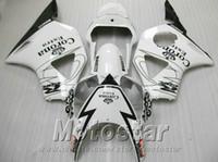 Wholesale Corona Honda - Free customize fairing kit for Honda Injection molding cbr900rr fairings 954 2002 2003 CBR 900RR black white Corona set CBR954 02 03 YR60