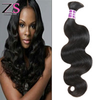 Wholesale Top Quality Remy Hair Styles - Top Quality 7a Unprocessed Human Hair Bulk Virgin Peruvian Bulk Hair Extensions Body Wave Hair Style Instock 4pcs Remy Human Hair