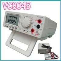 Wholesale Desktop Multimeter - Wholesale-1pcs EMS ship Digital Multimeter Vici VC8045 Bench Top 4 1 2 True RMS DCV ACV DCA ACA DKTD0122 precision desktop multimeter