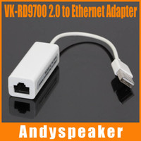 VK-RD9700 USB 2.0 a Ethernet LAN RJ45 Tarjeta de red Adaptador 21cm 10Mbps o 100Mbps Red Para MAC Para Win7 Para Laptop 10pcs / up