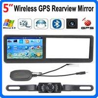 Wholesale Gps Navigator Mirror - HD 5 inch Car GPS Mirror AVIN Wireless Rear View Camera FM Bluetooth GPS 4GB IGO Maps