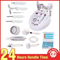 Wholesale Salon Microdermabrasion Equipment - Facial Beauty Spa 6-1 Hot&Cold Hammer Photon Ultrasonic BIO Diamond Dermabrasion Microdermabrasion Skin Scrubber Peeling Salon Equipment