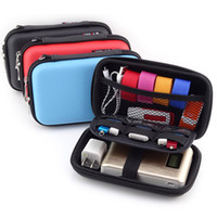 Al por mayor-Mini portátil Digital Accesorios Travel Storage Bag para auriculares, disco duro, disco U, tarjeta SD, cable de datos, teléfono, Power Bank Organizador