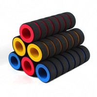 Wholesale Grips Soft - 2 Pair Per Lot 4 Colors Soft Foam Nonslip Grip Cover Motorcycle Bicycle Handle Bar