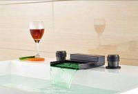 Wholesale Color Basin Faucet - Classic LED Color Changing Basin Faucet Deck Mounted Mixer Oil Rubbed Bronze Tap