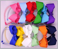 Wholesale Best Boutique Wholesalers - 30%off the best xmas gift fashion teethed plastic headband with boutique Hair bow headwear children hair accessories 30pcs lot
