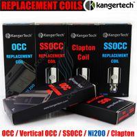 kangertech subtank nano original achat en gros de-100% d'origine Kangertech SSOCC bobine de remplacement verticale OCC Ni200 0,15 0,5 1,2 1,5 ohm sub bobines Kanger Subtank mini nano plus atomiseur DHL