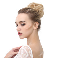 Wholesale Big Bun Ring - 2017 Curly Clip In Hair Buns Bride Big Ring Donut Heat Resistant High Temperature Synthetic Chignon Extensions