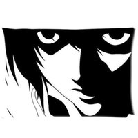 Wholesale Death Note Case - Decorative Death Note Two Side Fashion Custom Rectangle Best Pillowcase Pillow Case Cover 20X30 Inch