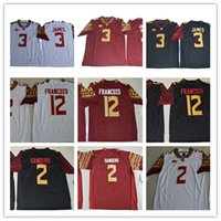 Wholesale Florida State Ncaa - Mens NCAA ACC FSU Derwin James College Football Jerseys #2 Deion Sanders 12 Deondre Francois Florida State Seminoles Jersey S-3XL