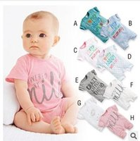 Wholesale Kids Body Suit Wholesale - Wholesale- NEW Baby boys sets infant short sleeve boys clothes Baby Clothing kids body suit LTF001