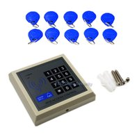 Wholesale card reader door access systems for sale - Group buy Access Control Keypad Containing users with Code Password Access Control RFID Card Reader khz Standalone Single Door System