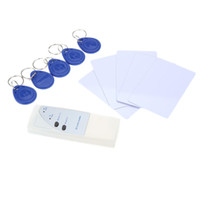 Wholesale Key Card Duplicator - Door Access Control RFID 125Khz Handheld Smart ID Card Reader Copier Writer Duplicator + 5 Writable Cards + 5 Key Fob A5