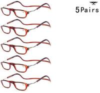 Wholesale Adjustable Eyeglasses - Wholesale-5 Pairs Adjustable Fashion Magnetic eyeglasses Reading Glasses Men Women Sun Readers