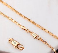 Wholesale Gold Plated 18 Inch Chains - 18K gold plating smooth snake chains Necklace 2MM snake chain mixed size 16 18 20 22 24 26 28 30 inch hot sale Chains Jewelry