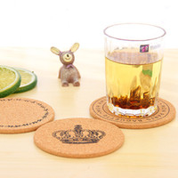 Wholesale wood discs - Round Disc Pad Heat Resisting Coffee Table Coasters Retro Cork Wood Tableware Mat For Kitchen Home Accessories Decor 1 8zw C RZ