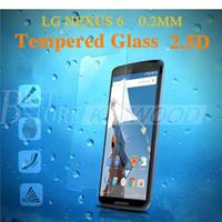 nexus displayschutzfolien großhandel-Neue Für LG Nexus 4 Nexus 5 Nexus 6 Gehärtetem Glas Displayschutzfolie 0,2 MM 9 H 2.5D Explosionsgeschützt Für LG NEXUS6 Mit Paket Freies DHL