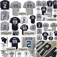 Wholesale Mantle Man - stitched #99 Aaron Judge 2 Derek Jeter jersey Men 23 Don Mattingly 24 Gary Sanchez 7 Mickey Mantle 3 Babe Ruth Baseball Jerseys