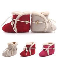 magasin de bébé chaussures achat en gros de-2017 nouveaux Enfants Chaussures D'hiver infantile Coton bottes Filles Garçons Mode Bébé First Walkers achats gratuits