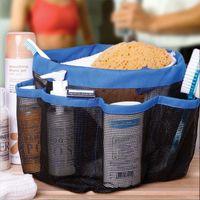 Wholesale Breast Holder - 8 Pocket Shower Caddy Oxford Bathroom Hanging Storage Bag Home Makeup Organizer Holder Hosekeeping Accessories Free DHL XL-382