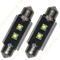 """Wholesale 39mm High Power - 2x High Power 1.53"""" 39MM 2 3535-SMD White Dome Festoon LED Map Light Bulb DE3423 for free shipping"""
