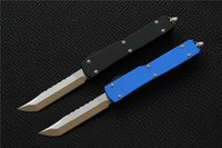 Wholesale Finishing Aluminum - Free shipping high quality MIKER Ultratech(Apocalyptic)knife Blade:D2(Satin) Handle:Aluminum(CNC finish)Outdoor camping hunting knife