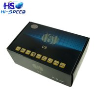 Wholesale Mpeg Receivers - 10pcs S V8 HD Satellite Receiver with PVR DVB-S2 Supported Youtube Youporn CardSharing Web TV MPEG-5 CAMD Biss Key SKYBOX V8 openbox v8s