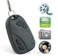Wholesale Cheap Wholesale Digital Cameras - Cheap MINI SPY CAR KEY HIDDEN CAMERA 808 KeyChain 30FPS Digital CAM Chain DV DVR WebCam Camcorder Video Recorder Car Keys Cameras
