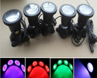 Totalmente submersível 7 cores 36 Leds Spotlight Bule Aquarium LED Light Pond Fountain Lamp impermeável Spot Light