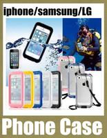 Wholesale Waterproof Shockproof Phone S3 - samsung iphone LG PC Waterproof cell phone cases Shockproof Dirt Snow Proof Case iPhone6 plus iphone5 note 3 4 s3 4 5 LG G2 Cover SCA030