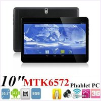 Wholesale Tablet Os Wholesale - 10 Inch MTK6572 Dual Core GPS Bluetooth Android 4.4 OS tablet Dual Sim Phablet 3G GSM phone call tablet PC 1GB RAM 16GB ROM 10.1 9.7 MQ10