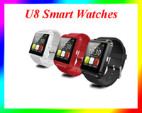 Wholesale Sale S4 - Hot sale U8 Smart Watches Bluetooth Wrist Watches Altimeter Smartwatch for Apple iPhone 6 Samsung S4 S5 Note Android HTC Smartphones DHL