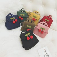 Wholesale Backbag Child - Children Girls Bags Accessories Backpacks Cherry Pattern Cute Princess Casual cross Bags handbag Backbag Mini Bags For Girl 8 Colors A8028