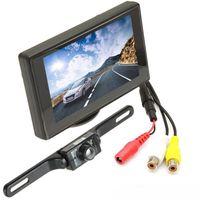 kablosuz dikiz otoparkı monitörü toptan satış-4.3 inç Dijital Renkli TFT LCD Oto Arka Cephe Monitörü + Kablosuz Su Geçirmez 420TVL Gece görüş Arka görünüm Ters Kamera