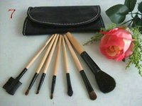 Wholesale Low Cost Makeup - Low-cost sales makeup tools 7pcs make brush classical practice makeup brushes, black makeup brush Free shopping!!!