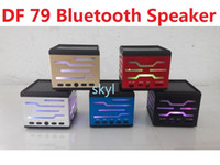 Wholesale Cheap Portable Speakers For Mp3 - DF 79 DF-79 mini speaker portable hands free HIFI Bluetooth speaker for tablet phone note4 LG HTC Q88 MP3 4 PSP DHL FREE Buy Top Cheap
