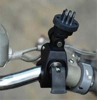 cámara de montaje de motocicleta al por mayor-Bicicleta bicicleta motocicleta manillar montaje trípode para cámara Digital Video 360 grados cabeza giratoria envío gratis