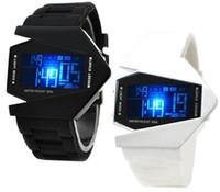 ingrosso orologio pilota aviatore-orologio sportivo da uomo all'ingrosso orologio da polso digitale colorato LED Pilot Aviator orologio da polso militare Orologio da uomo moda LED Orologio Relogio