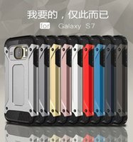 Wholesale Drop Tech Case - S7 edge hybrid tough armor tech case for iphone 6s 6s plus shock absorbing drop-tested mobile phone case for Samsung S6 edge